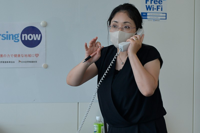参加されてる方から電話で問い合わせが…事務局村田さん